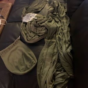 Olive Green MOBY Baby Wrap
